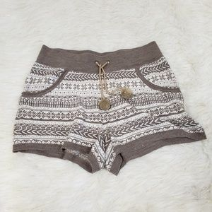 Anthropologie Lilka Wool Blend Boho Shorts